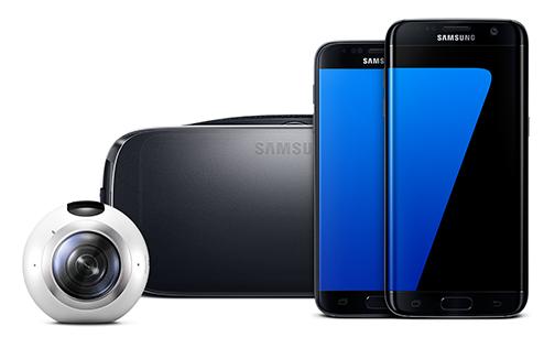 Samsung Galaxy S7 avec ses accessoires