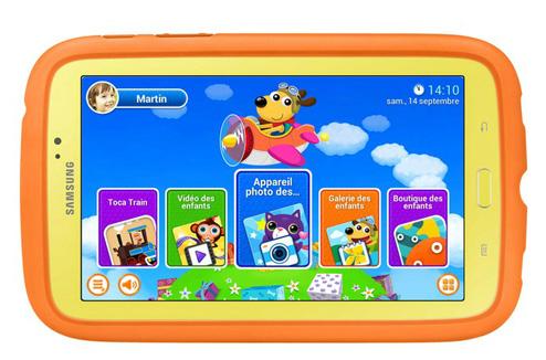 Tablette tactile enfant Samsung Galaxy Tab 3 Kids : écran d'accueil
