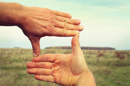 Cadrage avec les mains