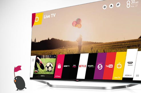 Smart TV LG : l'interface webOS et la mascotte BeanBird