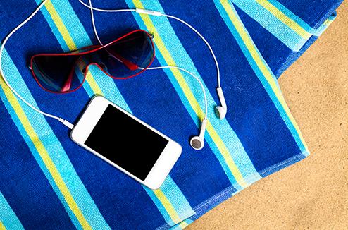 Smartphone à la plage