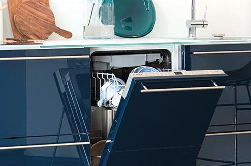 Lave-vaisselle intégré dans la cuisine Sorbonne de Darty