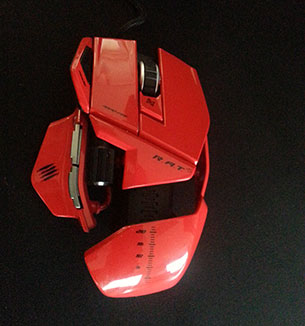 Souris Gamer R.A.T 5 Cyborg MadCatz rouge