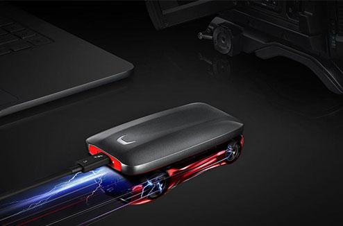 Samsung X5 SSD à grande vitesse d'écriture