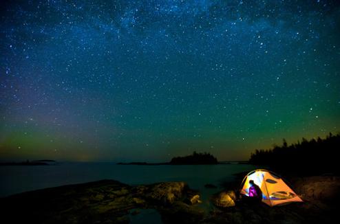 Camper sous les étoiles