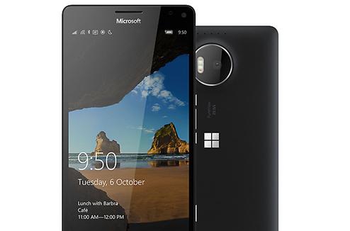 Vue complète du Microsoft Lumia 950 XL