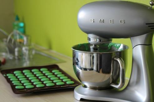 Test du robot pâtissier Smeg macarons salés