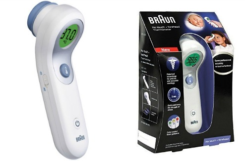 test du thermomètre frontal et sans contact Braun