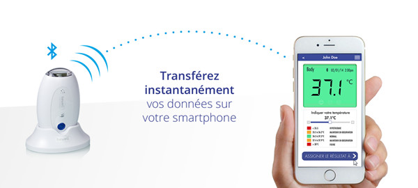 Faire un suivi m dical avec son smartphone darty vous for Thermometre piscine connecte