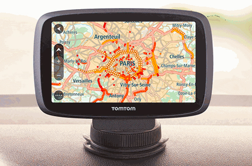 Info trafic sur un GPS TomTom