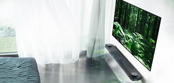 lg signature oled tv w le t l viseur qui s aimante au mur darty vous. Black Bedroom Furniture Sets. Home Design Ideas