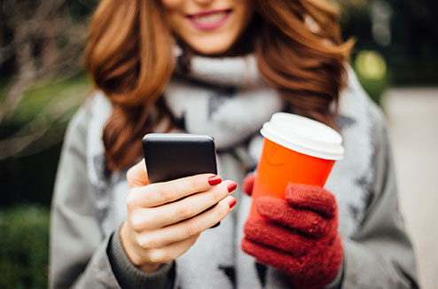 Utiliser son smartphone en hiver