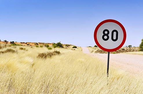 vitesse limitée a 80 km/h