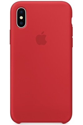 Coque iPhone Apple Coque en silicone pour iPhone X (PRODUCT)RED