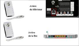 Schema connexion tv et Box en CPL