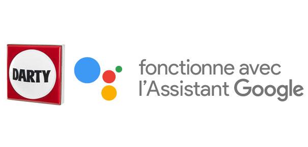 Le bouton Darty disponible sur Google Assistant