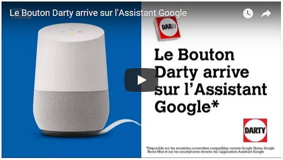 Vidéo Bouton Darty arrive sur l'Assistant Google