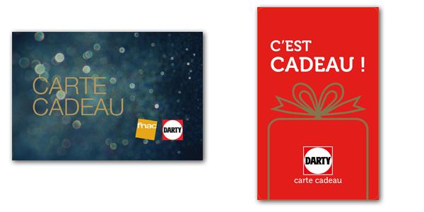 Carte cadeau fnac/darty et carte cadeau darty