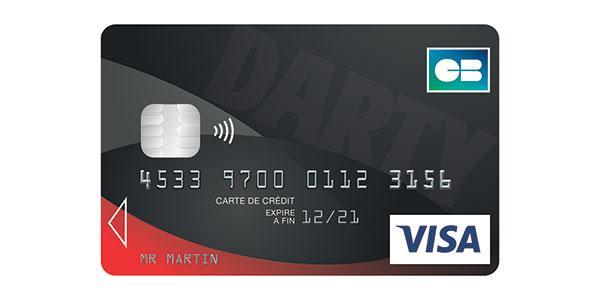 carte de crédit visa darty