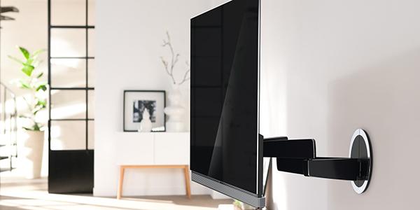 fixation television mur excellent fixation support tv support de mur de tv pouces taille d with. Black Bedroom Furniture Sets. Home Design Ideas